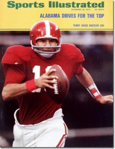 Quarterback Terry Davis and his brother Bill accounted for 19 of Alabama's 31 points in the 1971 Iron Bowl.